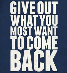Give out. .....