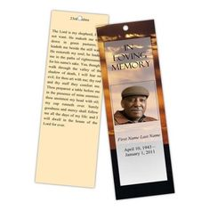 Spiritual or Christian based themed Memorial Bookmarks : Heaven ...