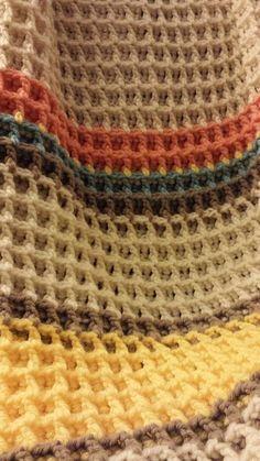 Waffle Stitch Baby Blanket, Shawl, Scarf + Free Pattern + Video