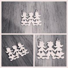 Colgante de Plata 950 diseño niños #hechura #hechoamano