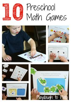 10 hands-on, printable games that teach shapes, patterns, number recognition and writing, counting to 20, graphing, measuring, beginning addition and subtraction.