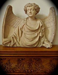 BYZANTINE ANGEL Statue Portico Relief Northern ITALIAN by etsy.com/shop/NestHomeDecorLife