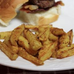 Cajun Baked French Fries Seasoned Potato Wedges, Baked Potato Wedges Oven, Oven Baked Fries, Fries In The Oven, Side Dish Recipes, Snack Recipes, Snacks, Potato Recipes, Side Dishes