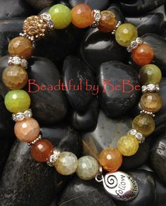 Follow Your Heart~with yellow agate beads