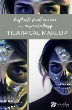 If you think you can't make a huge salary working in cosmetology, think again. Theatrical makeup is the highest paying career in cos and they can make into the six figures! #cosmetologyschool #beautyschool #makeupartist