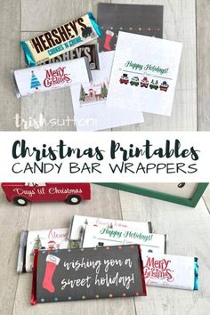 Learn more about Homemade Christmas Gift Ideas Christmas Chocolate Bar Wrappers, Christmas Wrapper, Christmas Candy Bar, Holiday Candy, Christmas Ideas, Christmas Crafts, Christmas Skirt, Christmas Sewing, Christmas Goodies