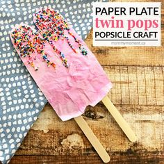This paper plate popsicle craft is a simple summer time craft that your kids are sure to love. This craft is even simple enough for kids to do on their own!
