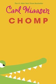 """Chomp / Carl Hiaasen. When the difficult star of the reality television show """"Expedition Survival"""" disappears while filming an episode in the Florida Everglades using animals from the wildlife refuge run by Wahoo Crane's family, Wahoo and classmate Tuna Gordon set out to find him while avoiding Tuna's gun-happy father."""
