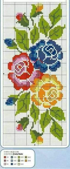 Lovely floral/roses cross stitch embroidered tablecloth in white linen from Sweden Cross Stitching, Cross Stitch Embroidery, Cross Stitch Patterns, Cross Stitch Rose, Cross Stitch Flowers, Hand Embroidery Designs, Christmas Embroidery Patterns, Beading Patterns, Pixel Art