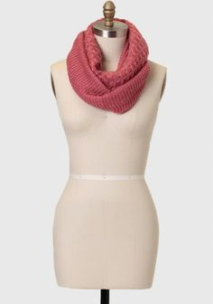 Jamie Knit Infinity Scarf -- so warm & the perfect pop of color with an oversized white sweater
