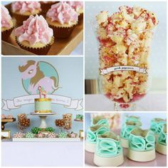 Pink, Mint, & Gold Unicorn Party with Lots of Really Great Ideas via Kara's Party Ideas KarasPartyIdeas.com #UnicornParty #GirlParty #PartyIdeas