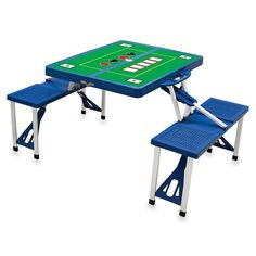 Outdoor Picnic Time Foldable Poker Table,
