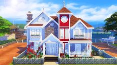 AvelineSims — Seaside Estate Had a lot of fun building this one...