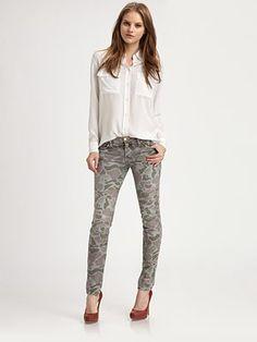 Current/Elliott Camo skinny jeans