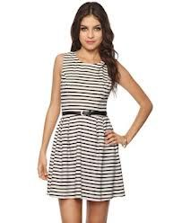 cute stripes with belt