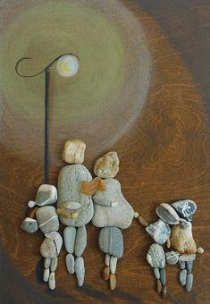 Il mondo di Mary Antony: Erzsébet Szilajka - Pebble Art / Stone Art Stone Crafts, Rock Crafts, Beach Rock Art, Art Rupestre, Art Encadrée, Art Pierre, Rock Sculpture, Pomes, Pebble Pictures