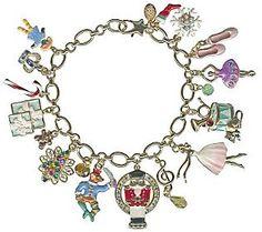 Kirks Folly Nutcracker Suite ChristmasCharm Bracelet QVC J303977