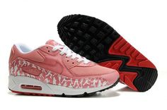 save off 5a2aa 7f199 Shop New Style Womens Nike Air Max 90 Sunblush Team Red black, grey, blue  and more.