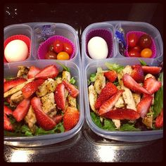 Protein Power Lunch packed in Purchase EasyLunchbox containers… Healty Lunches, Lunch Snacks, Lunch Recipes, Healthy Snacks, Healthy Eating, Healthy Recipes, Cooking Recipes, Kid Snacks, Keto Recipes