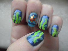 Aquatic fun nails!