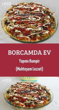 Borcamda Ev Yapımı Kumpir (Muhteşem Lezzet) potato al horno asadas fritas recetas diet diet plan diet recipes recipes Fun Easy Recipes, Delicious Vegan Recipes, Easy Desserts, Easy Meals, Dessert Recipes, Yummy Food, Tasty, Pyrex, Butter Chicken Rezept