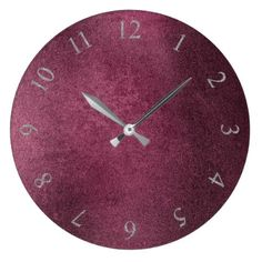 Charming Ideas Large Rustic Clock. Cement Burgundy Maroon Gray Roman Numbers Large Clock Bordeaux Glass Minimal