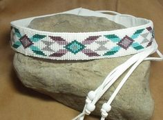 Western Rodeo Style Loom Beaded Hat Band