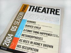 purdue theatre 2004-05 season brochure front cover