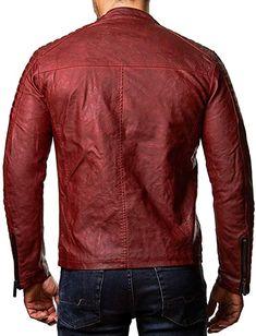 525df44ad732ed Redbridge Red Bridge Herren Biker Kunstleder Jacke mit gesteppten Bereichen  M6037 M6028 M6013 M6014 (S