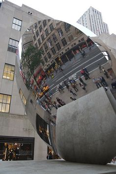 Anish Kapoor's Skymirror @ Rockefeller Center by ultrahi, via Flickr