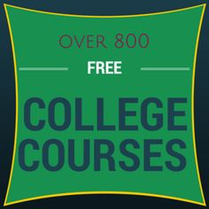 Over 800 free college courses. Take them for the certificate, to complete high school credit, or simply for the knowledge! #homeschool #college #highschool