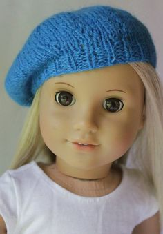 18 Doll Clothes  Seperates  Knitted Blue Beanie von DollTagClothing, $3,00