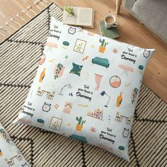 """""""Well Your House Is... Charming (CXG Inspired)"""" Floor Pillow by Ukulily 