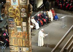 Francisco durante su discurso en la 'Zona Cero' (Nueva York)