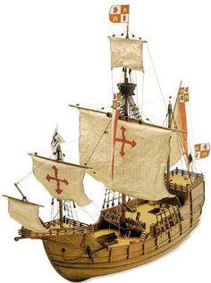 Latina 1/65 Santa Maria LAT22411 by Latina. $135.58. This is the Latina 1:65 Scale Santa Maria Model Kit. This Static Display boat is an all-wood replica of the Santa Maria one of the three ships that ColumbusThis is the Latina 1:65 Scale Santa Maria Model Kit. This Static Display boat is an all-wood replica of the Santa Maria one of the three ships that Columbus sailed to the New World. Latina rates the difficulty level at two anchors, recommended for beginning to... Model Sailing Ships, Old Sailing Ships, Model Ships, Wooden Model Boats, Wooden Boats, Model Ship Building, Boat Building, Spanish Galleon, Play Vehicles