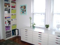 NOT TOO SHABBY: ikea alex drawer units