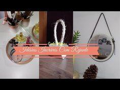 🔥PEÇAS LINDAS FEITAS COM REJUNTE | Carla Oliveira - YouTube Plant Hanger, Macrame, Decoupage, I Am Awesome, Youtube, Good Things, Make It Yourself, Projects, Instagram
