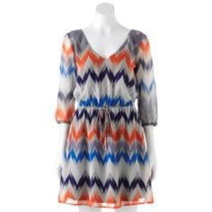 BeBop Chevron Dress - Juniors