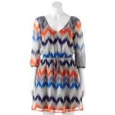 BeBop Chevron Dress - Juniors. Medium