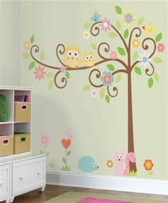 Cute tree decal I bought for the girls bedroom.