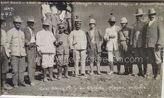 Álvaro Obregón junto con algunos de los principales oficiales del Ejercito del Noroeste en Ortiz en 1914