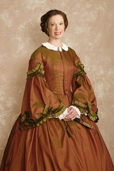 1860 walking dress silk | ... It is based on a Victorian silk day dress dating back to roughly 1860