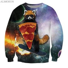 ALMOSUN Street Style Free Fly to Neverland Crewneck Sweatshirts Pullover 3D Hoodies Print Novelty Hip Hop for Men Women Harajuku