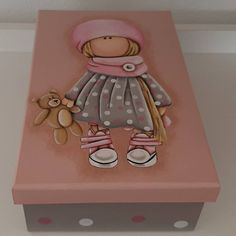 Decoupage Tutorial, Pintura Country, Craft Box, Box Art, Scrapbooks, Paper Dolls, Decorative Boxes, Doodles, Hand Painted