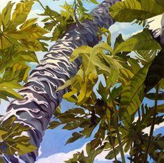 Papaya In The Sky Fine Art Oil Landscape by EvelynMcCPetersArt, $975.00