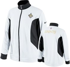 New Orleans Saints White Nike Sideline Dri-Fit Performance Full-Zip Jacket #saints #nfl #neworleans