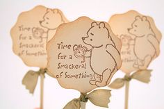 Winnie the Pooh Cupcake Toppers / Food Picks Baby Shower Birthday Party Smackeral of  Something