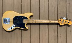 Fender Mustang Bass 1978 Vintage Blonde   Super Premium Deluxe Vintage   Reverb Mustang Guitar, Leo Fender, Cool Electric Guitars, Low End, Blond, Bass, Traveling By Yourself, The Originals, Vintage