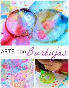 Técnica artística para la decoración de fondos o papeles.  www.carolinallinas.com