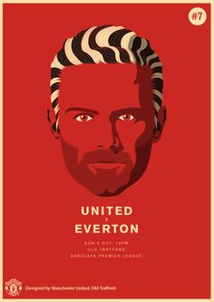 Match poster. Manchester United vs Everton, 5 October 2014. Designed by @manutd.